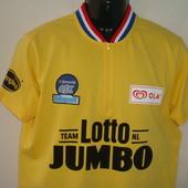 велофутболка Lotto Jumbo желтая, размер L\XL, 95% котон