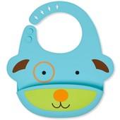 Skip Hop Силиконовый слюнявчик Собачка zoo fold go silicone bib blue dog
