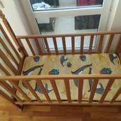 Кроватка детская + матрац + мягкие бортики