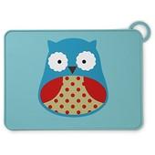 Skip Hop Силиконовый коврик подстилка для еды Совушка zoo fold go silicone kids placemat otis owl