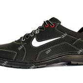 Мужские кроссовки в стиле Найк черного цвета (Ю-32ч)