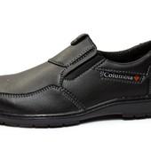 Туфли/Мокасины мужские демисезонные – черные 45 размер (СТ-08)