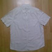 Фирменная льняная рубашка XL