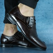 Туфли мужские классика, кожаные, р. 39-45, код gavk-10613