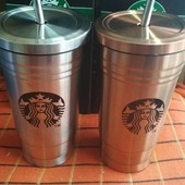 Термокружка Starbucks (Старбакс) с трубочкой
