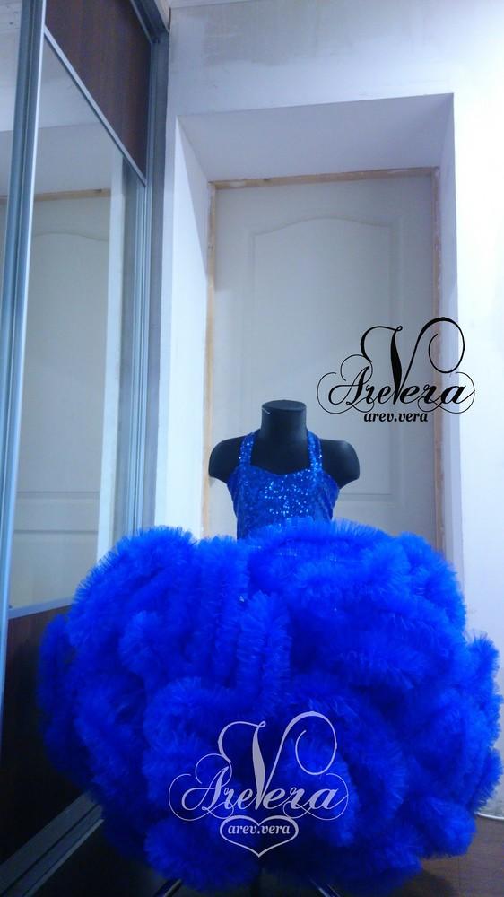 Нарядное детское платье выпускной облако садик на девочку электрик голливуд фото №1