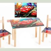 Набор стол и 2 стульчика Тачки 1400017