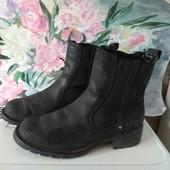 Кожаные деми ботинки Clarks  23см