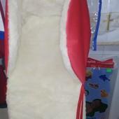 Чехол на санки на овчине красный