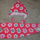 комплект шапка+шарф девочке Mothercare 5-8 лет ог 52-54