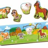 Деревянная рамка вкладыш Домашние животные