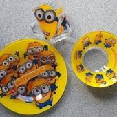 Набор детской посуды миньоны , 3 предмета