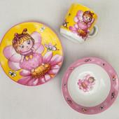 Посуда для девочки из керамики ,3 предмета