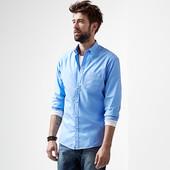 Рубашка  из органического хлопка, светло-голубая от ТСМ Чибо (германия ), размер Л