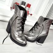 Новинка!!!! деми/зима ботинки натуральная замша / кожа код:КК 774