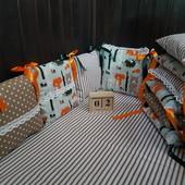 Лесная сказка, наборчик бортиков для новорожденных