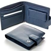 Мужской кожаный кошелек Boston Цвет синий В наличии разные модели