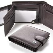 Мужской кожаный кошелек правник Boston коричневый В наличии разные модели