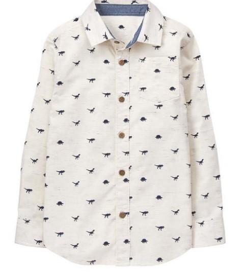 Светлая рубашка с длинным рукавом фото №1