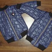 Синяя деми куртка  для мальчика