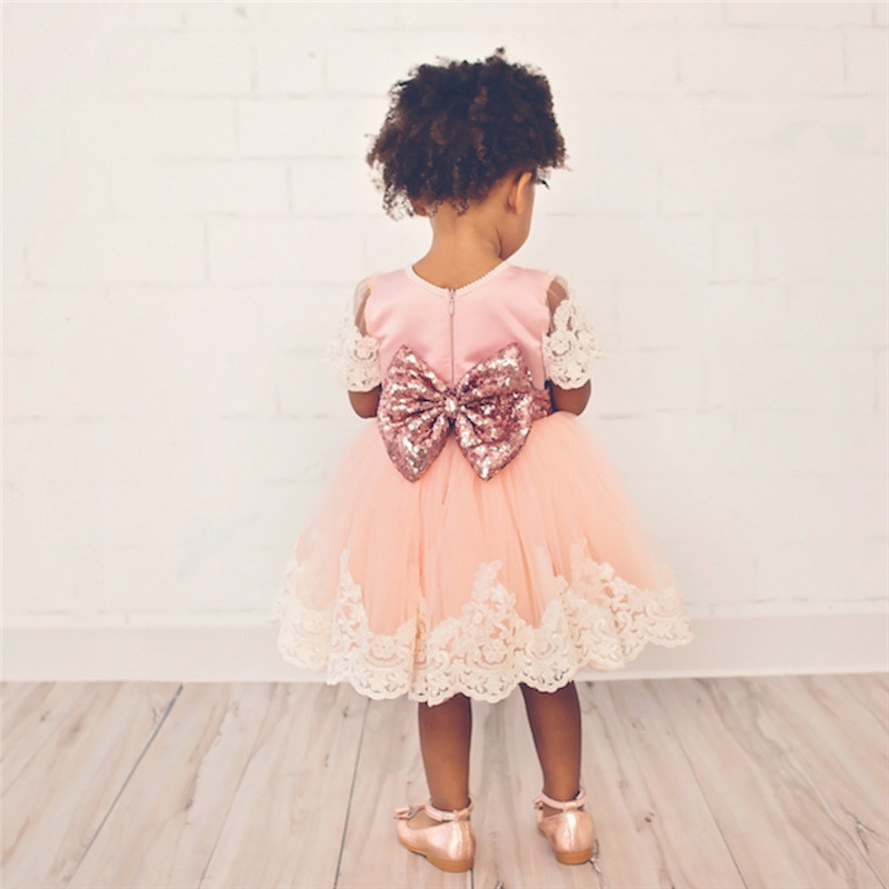 Нарядное платье с золотым бантом розовое. красное. синее фото №1