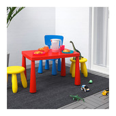 Столик дитячий прямокутний червоний маммут ІКЕА, столик десткий прямоугольный красный