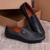 Стильные мужские туфли синего цвета