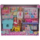 Кукольный набор Штеффи и Эви Ветеринарная клиника Simba 5733040