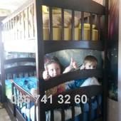 Двуспальная детская кровать Карина усиленная. Двухъярусная кроватка