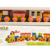 Деревянная игрушка Левеня Cubika Поезд LP-1 38 деталей (11681)
