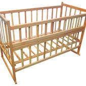 Детская кроватка модель №3 (колеса качалки в комплекте)