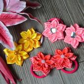 Резиночки для волос цветочки