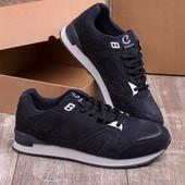 Мужские кроссовки 17738-44 черные и бордо