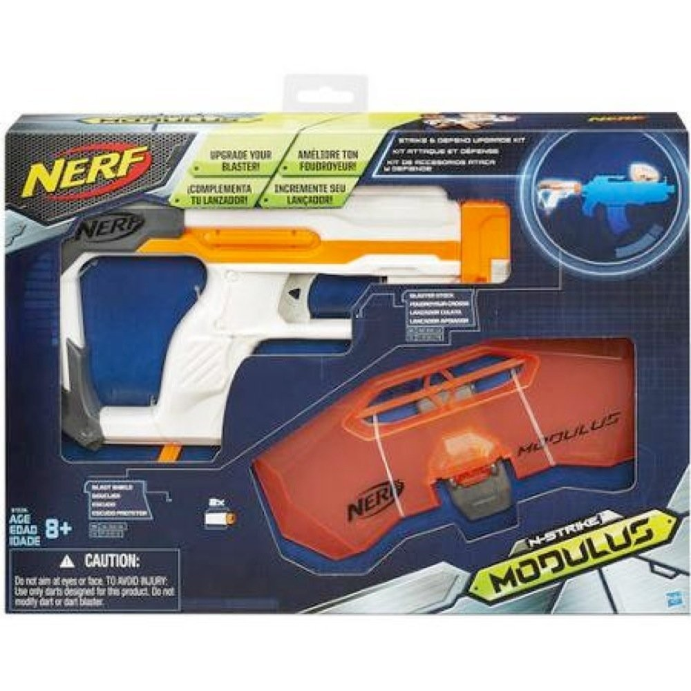 Nerf бластер модулус modulus strike and defend upgrade kit фото №2