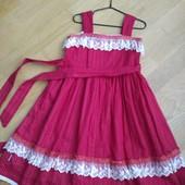 Шикарное платье для девочки! Хлопок 100%