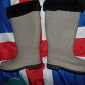 Фирменние стильние новие утепленние резиновие сапоги чоботи Esmara Италия .38