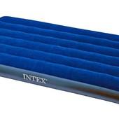 Велюр матрас Intex  68757 синий, 99-191-22см, в коробке