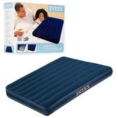 Велюр матрас Intex  68758  синий, в коробке