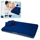 Надувной матрас Intex 68765 с насосом и двумя подушками