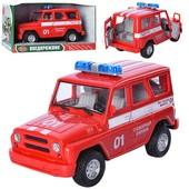 Инерционная машинка Уазик 9076 Е Пожарная охрана