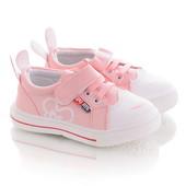 Размеры 22-26 Розовые кеды с ушками для девочек