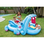 Игровой надувной центр бассейн Intex Гиппопотам , 57150 интекс