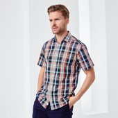 Отличная мужская рубашка на лето M, XL тсм tchibo германия