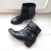Marco Tozzi черные ботинки 39р весна полусапожки байкерские ботильоны пряжки