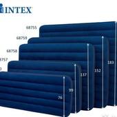 Матрас Интекс велюр разные Intex