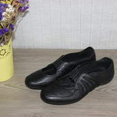 38 24,5см Geox Respira Кожаные туфли спортивного стиля балетки мокасины