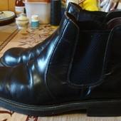 ботинки черные демисезонные кожаные Размер 42 стелька 28 см.