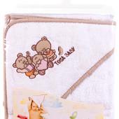 Полотенца для новорожденных махровое с капюшоном, 100 % хлопок!