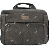 Тканевая мужская сумка темно-серая (118ч)