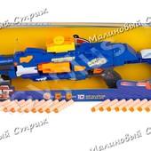 Детское ружье автомат с мягкими пулями, аналог Nerf нерф, 20 мягких пуль, 73 см, мишень